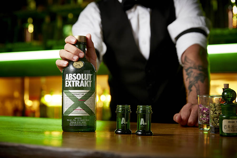 Absolut Extrakt vodka drink photography gallery