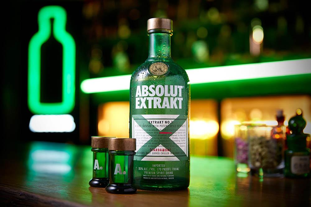 Absolut Extrakt vodka drink photography