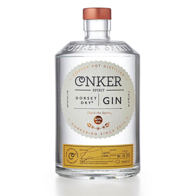 conker spirit dorset dry gin pack shot photography