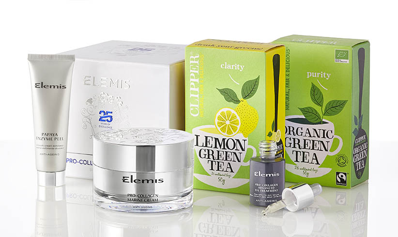 Elemis and clipper product photography