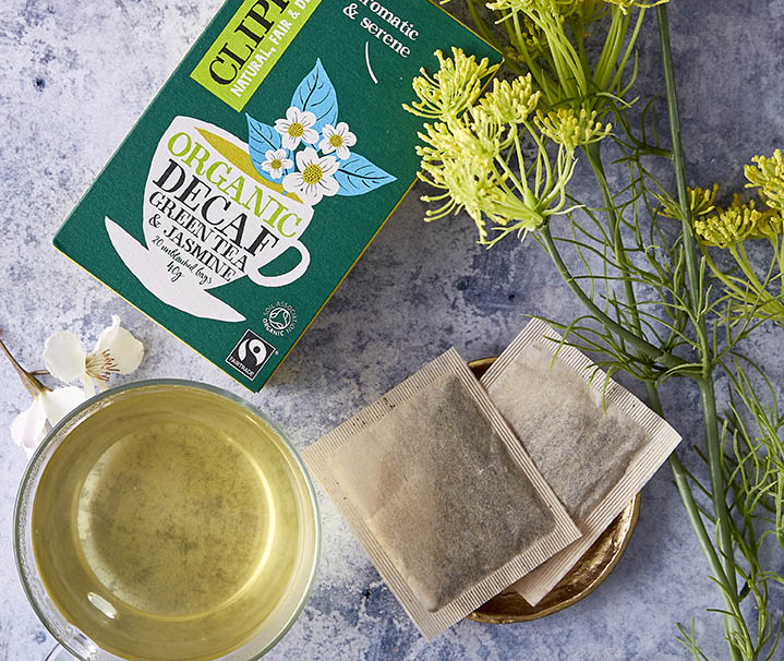 clipper tea bags product photography
