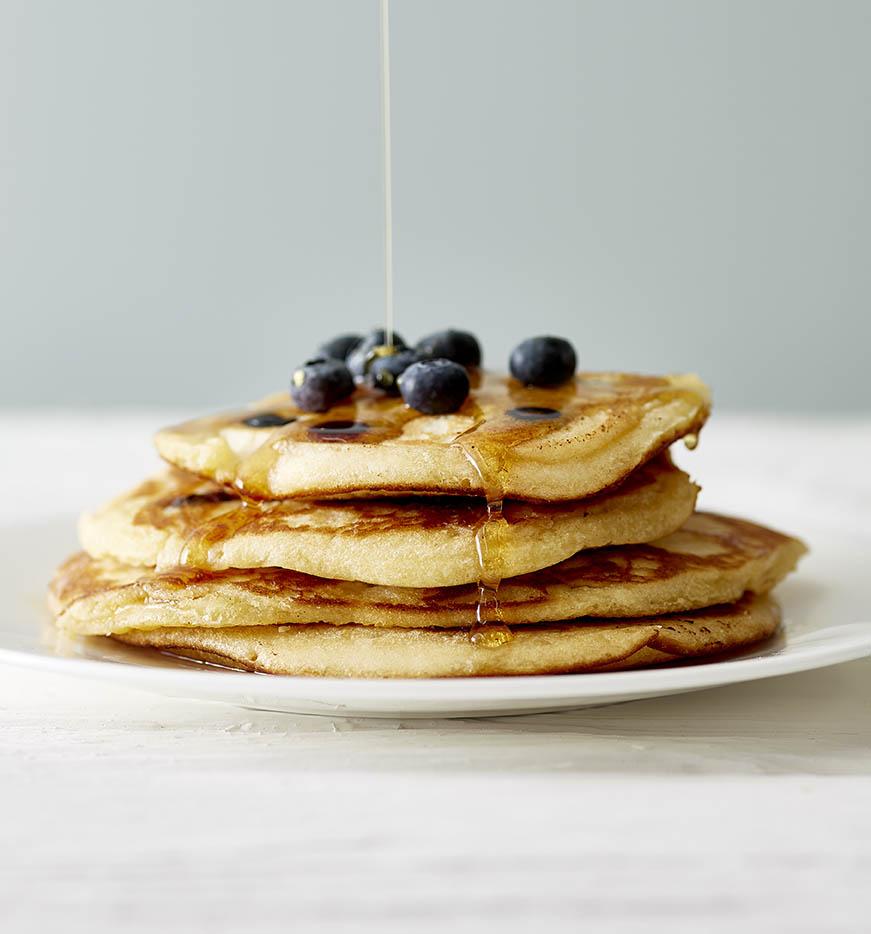 pancake food styling photography