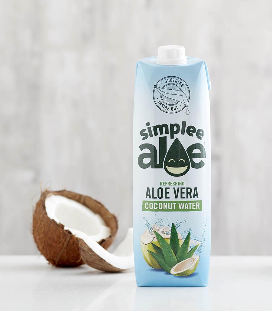 Simplee Aloe Coconut juice drink photography gallery
