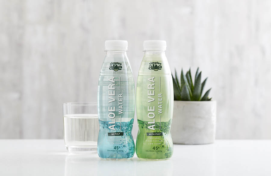 Simplee Aloe Waters drink photography