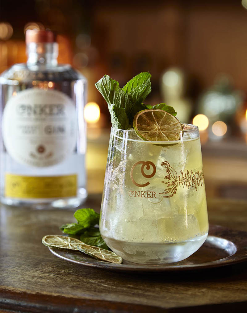 conker spirit gin cocktail lifestyle photography