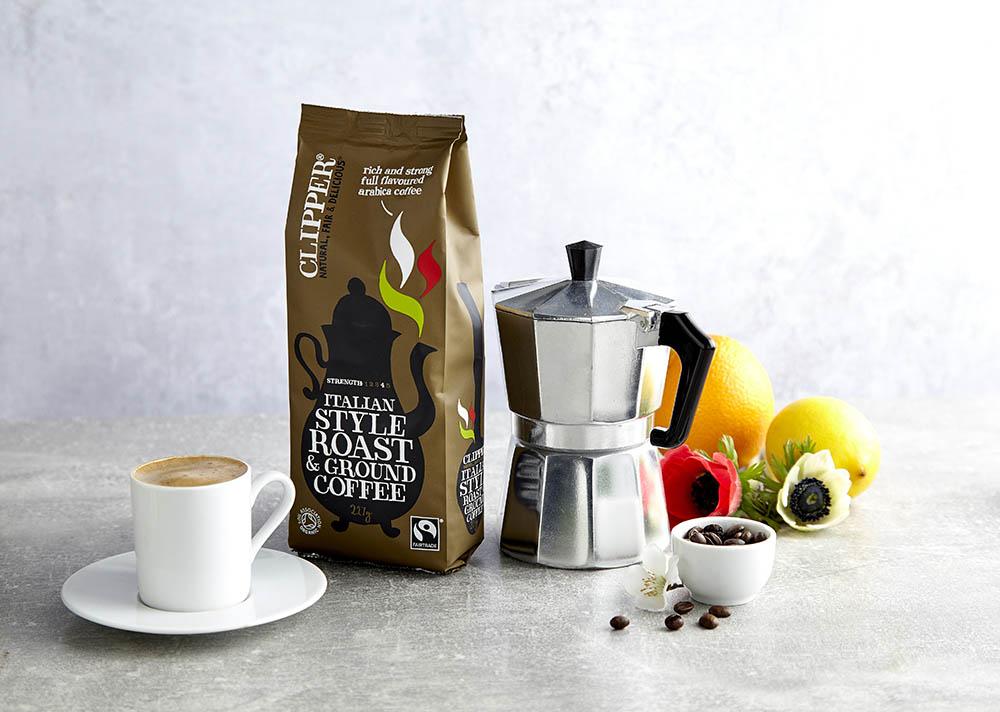 organic coffee drinks photography