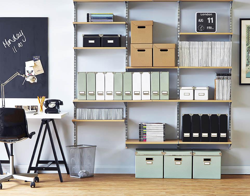 Shopfitting Warehouse shelving product photography